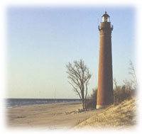 Little Point Sable Lighthouse at Silver Lake Sand Dunes